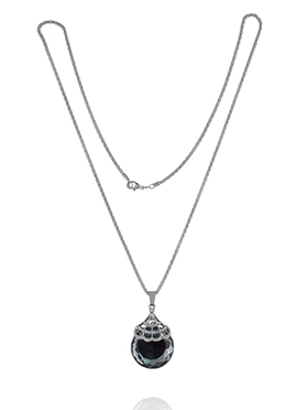 Silver N Black Pendant Chain
