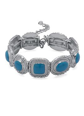 Silver N Blue Bracelets