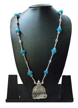 Silver N Blue Necklace