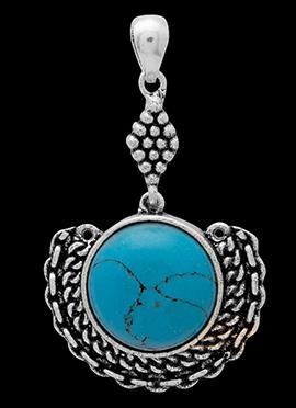 Silver N Blue Pendant