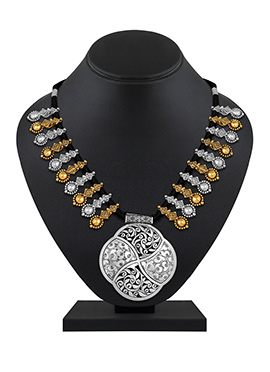 Silver N Gold Necklace