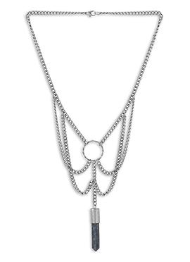 Silver N Grey Necklace