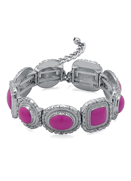 Silver N Pink Bracelet