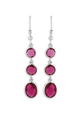 Silver N Pink Danglers