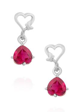 Silver N Pink Drops