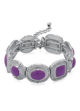 Silver N Purple Bracelet
