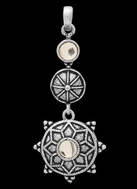Silver N White Pendant