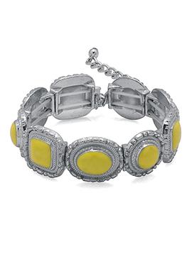 Silver N Yellow Bracelets