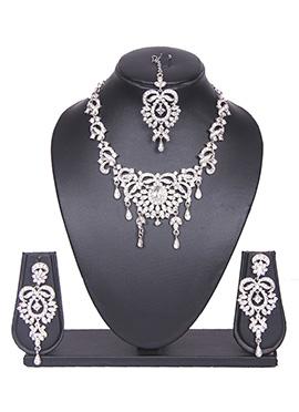 Silver Stone Tradisiya Necklace Set