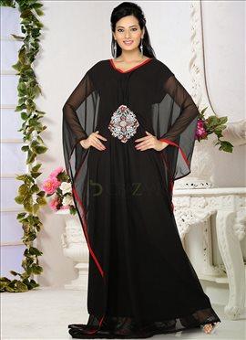Simplistic Black Farasha Fustan