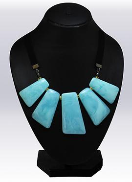Sky Blue N Black Necklace