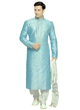 Sky Blue Prem Ratan Dhan Payo Kurta Pyjama