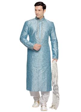 Sky Blue Prem Ratan Plus Size Kurta Pyjama