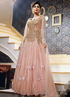 Light Peach Anarkali Suit
