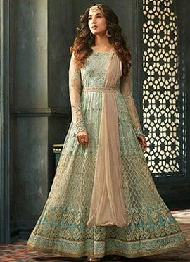 Sonal Chauhan Light Green Net Anarkali Suit