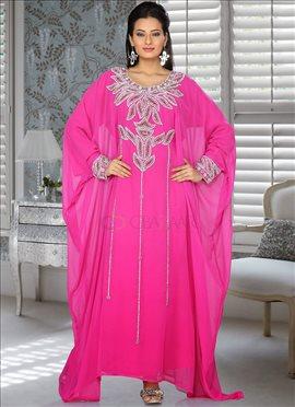 Spectacular Pink Farasha Fustan