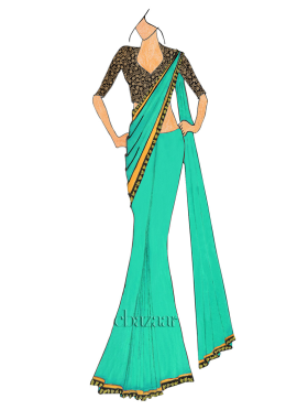 Spring Bud Saree With Embroidered Blouse