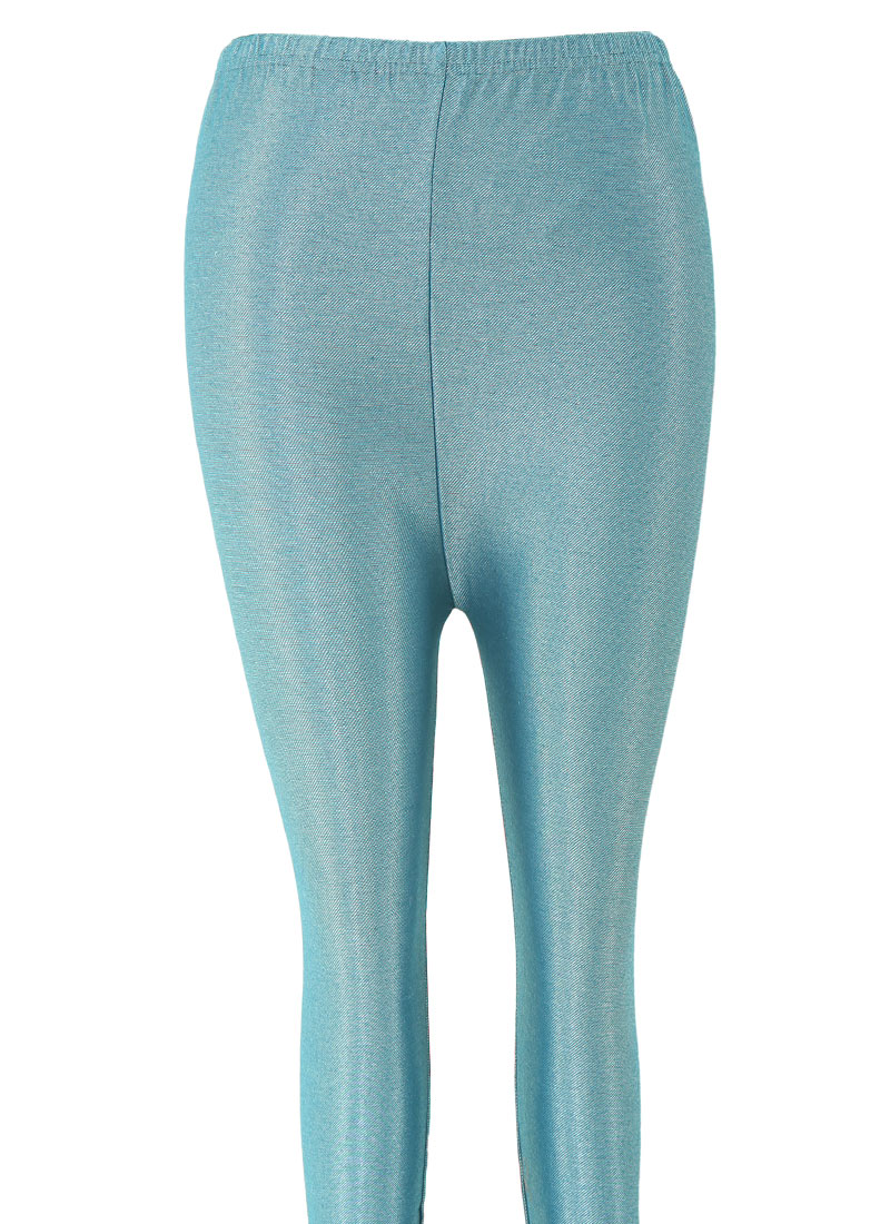 Buy Teal Blue Lycra Leggings After Six leggings Online Shopping | SKBK2044E