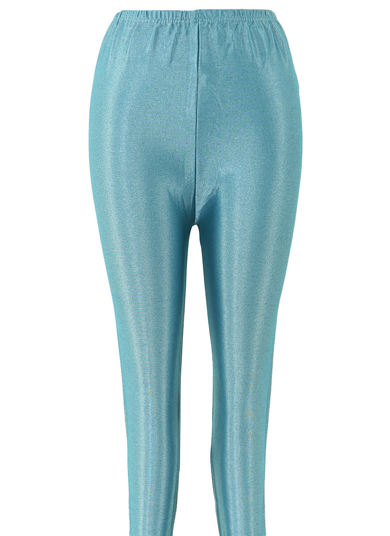 Buy Teal Blue Lycra Leggings leggings Online Shopping SKBK2044I