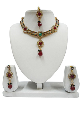 Stone Enhanced Necklace Set
