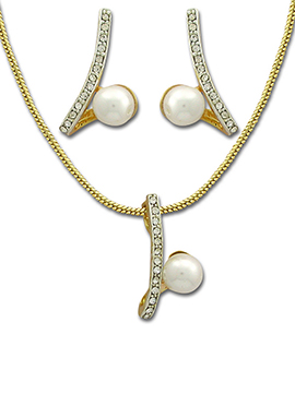 Stone N Moti Beautified Pendant Set
