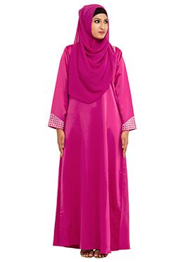 Stones Embellished Pink Abaya