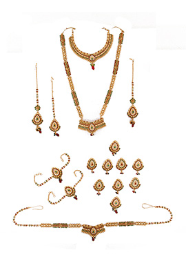 Stones N Motis Embellished Bridal Set