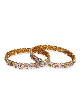 Stones Studded Traditsiya Multicolored Bangles