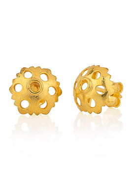 Studded Golden Earrings