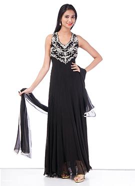 Stunning Black Georgette Gown
