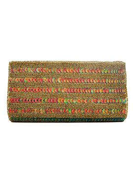 Stylish Beads Embellished Clutch