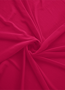 Tango Red Georgette Fabric