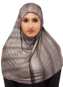 Taupe Brown Poly Cotton Hijab