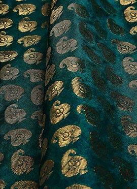 Teal Green Art Silk Fabric