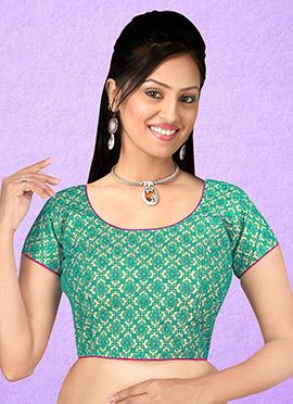 Teal Green Art Silk Blouse
