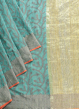 Teal Green Benarasi Art Silk Saree