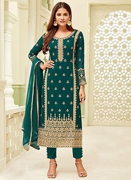 502553e2af4 Buy Salwar Kameez Straight Pant Suit For Wedding   Bridal