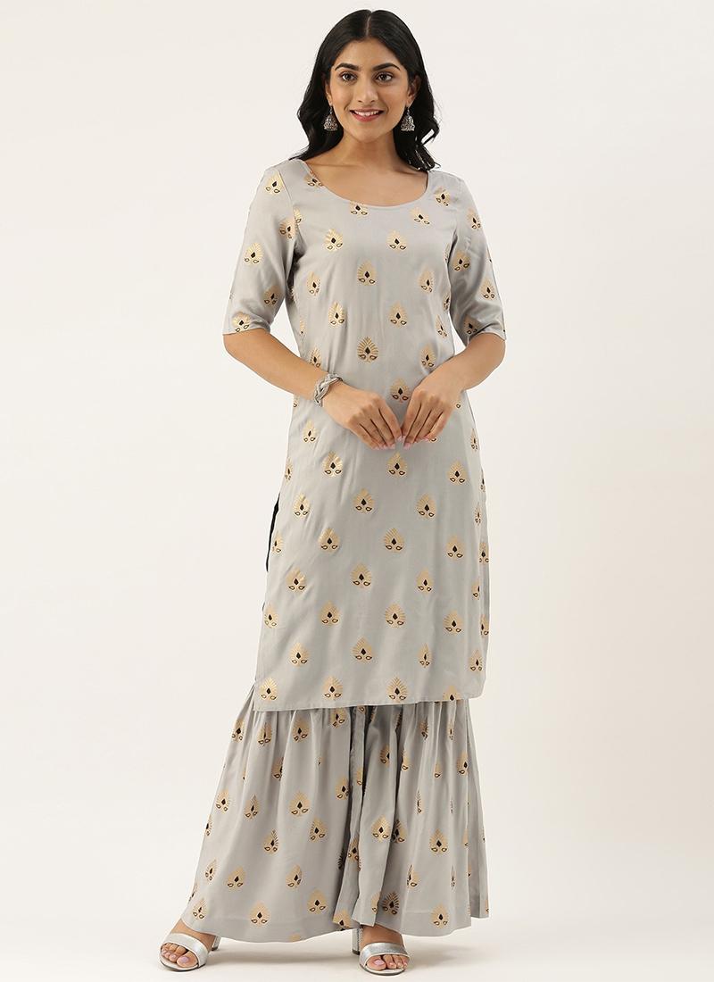 Shop EthnoVogue Teen Girls Grey Top N Gharara Pant Sets | Made to Measure  dress for teen girls in all sizes - TGKSBS02011491