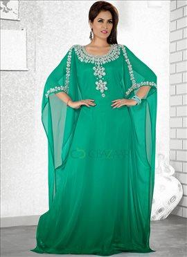 Terrific Green Farasha Fustan