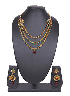 Three Layered Gold Tradisiya Necklace Set