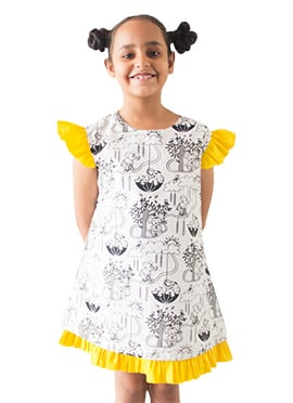 Tiber Taber White Kids Dress