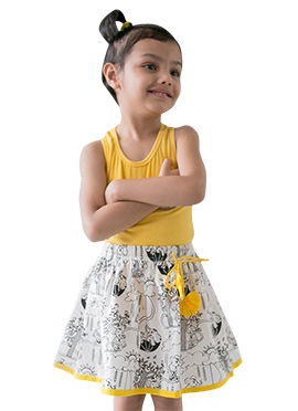 Tiber Taber White Kids Skirt