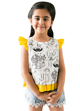 Tiber Taber White Kids Top