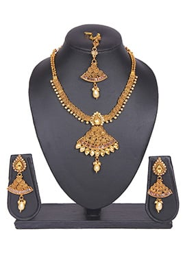 Traditional Gold Plated Tradisiya Necklace Set