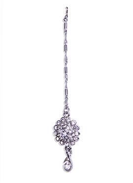 Traditsiya Floral Designed Silver Maang Tika