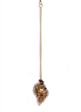 Traditsiya Gold Stone Studded Maang Tika