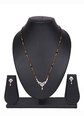 Traditsiya Golden Chain American Diamond Mangalsutra Set
