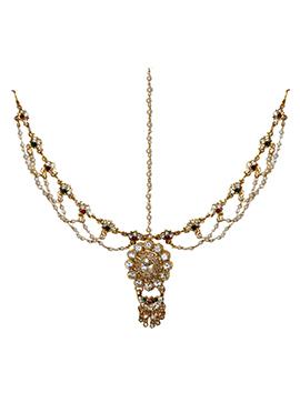 Traditsiya Golden Embellished Mathapatti