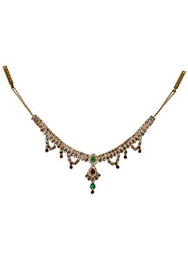 Traditsiya Golden Kundan Studded Saree Belt