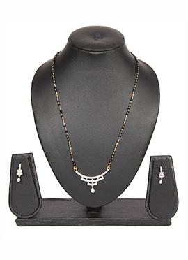 Traditsiya Golden N Black American Diamond Mangalsutra Set